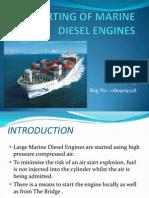 Air Starting of Marine Diesel Engines