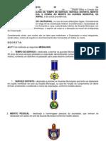 DECRETO Nº medalhas tempo de serviço