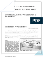 Copy of a Report on Industrial Visit