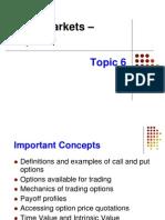 Topic 6 Option Market