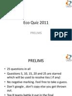 Eco Quiz 2011 Prelims Answers