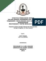Copy of Strategi Penegakan Hukum
