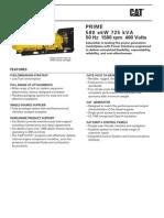 3412C 725 kVA Prime LowBsfc EU 50Hz