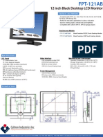 15242529 FPT121AB 121 Inch Touch Desktop LCD Monitor