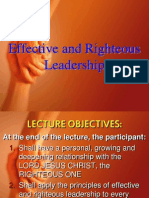 D1-Effective and Righteous Leadership