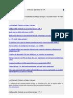 Foire Aux Questions Du CPL