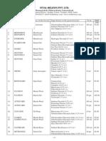 Vital Helesys Product List
