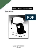 Manual Autorefractometro Nikon Nrk-8000