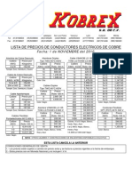 Lista de Precios Kobrex