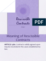 Rescissible Contracts