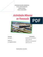 Actividades Mineras en Venezuela