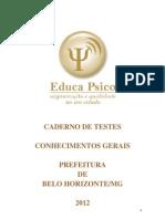 Caderno de Testes Prefeitura de Belo Horizonte