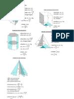 Fórmulario de Geometria Espacial