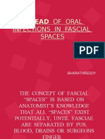 Spread of Oral Infections in Fascial Spaces