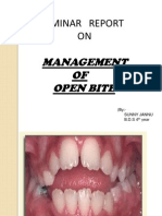 Management of Open Bite