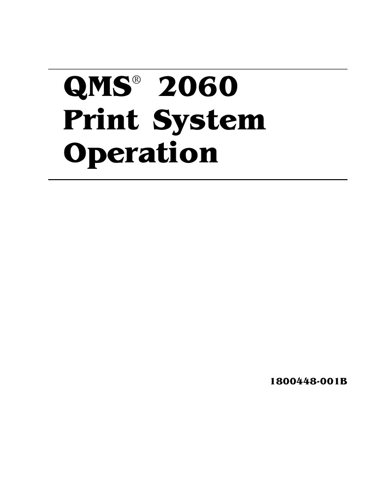 Konica Minolta QMS 2060 Print System Operation | Printer (Computing) |  Envelope