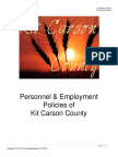 Kit Carson Personnel Policy 2016