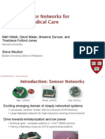 Wireless Sensor Networks for Emergency Medical Care