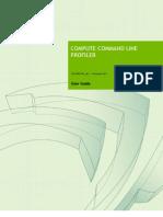 Compute Command Line Profiler User Guide
