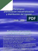Peronismo - planificación, industrialización y distribución del ingreso