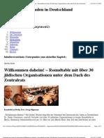 Zentralrat der Juden in Deutschland_ Willkommen daheim! – Roundtable mit über 30 jüdischen Organisationen unter dem Dach des Zentralrats