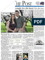 "Eberts/Mackler ""The Post"" Wedding Front Page"