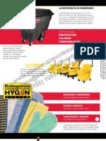 Catalogo Rubbermaid Sistemas para Desperdicios Pags 02 a 27