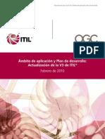 Manual - ITILV3 Scope and Development Plan Spanish