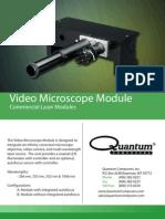 Quantum Composers Video Microscope Unit Datasheet