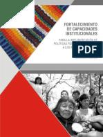 Libro Fortalecimiento de Capacidades Institucionales para la implementación de PP Orientadas a PPII  INDI PNUD FAPI CPI