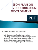Ppt on Steps in Curriculum