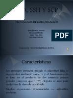 Exposicion protocolos (RSA, SSH Y SCP) Protocolos de Comunicación.