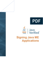 Signing Javame Applications