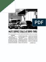 McD's Service Stalls at Drive-Thru