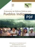 Propuesta de Políticas Públicas para Pueblos Indígenas - FAPI