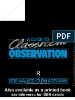 'a Guide to Classroom Observation' - Walker Rob, Adelman Clem