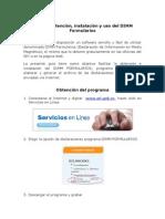 Guía de obtención, instalación y uso del DIMM Formularios