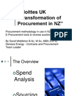 Transformation of Procurement – by Deloittes UK