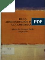 De La Administracion Publica a La Gobernanza
