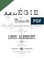 Albrecht Elegie Cello Piano