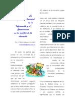 La Sociedad de La Informacion y El Conocimiento en Los Ambitos de La Educacion