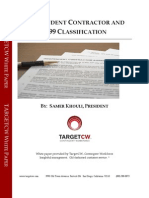 Independent Contractor and 1099 Classification White Paper 12/2011