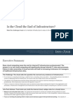 Is Cloud the End of Infrastructure SB