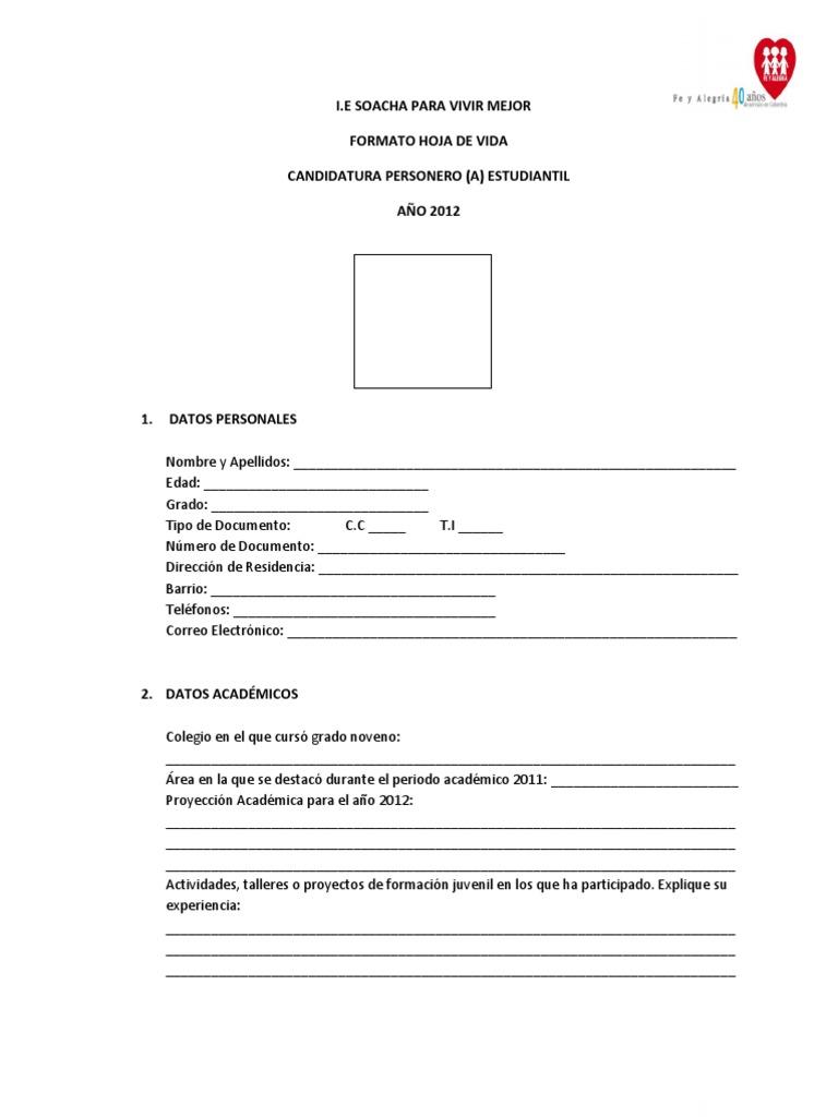 Contemporáneo Formato De Hoja De Vida De 1 Página Para Freshers ...