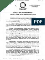 Zimmerman - Affidavit of Probable Cause (2012-04-11)