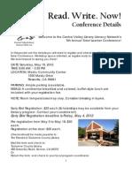 Conference Registration Packet 2012