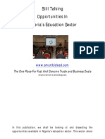 Opportunities in Nigeria's Education Sector
