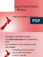 Bible as Tool of Gods Mission