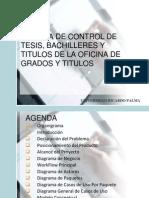 Sistema de Control de Tesis, Bachilleres y Titulados de La Oficina de Grados y Titulos