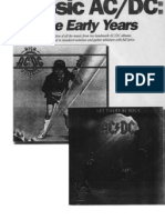 ACDC - Classic - Early Years - High Voltage and Let There Be Rock (Guitar Tab Songbook)